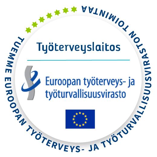 Terveellinen työ -kampanjan logo